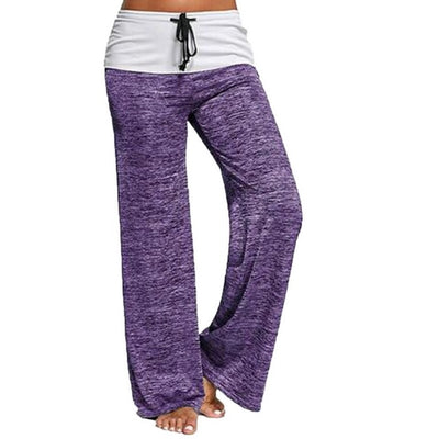 Purple Women's Wide Leg Lounge Pants