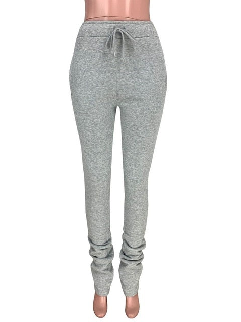 Gray Women's  Stacked Sweatpants