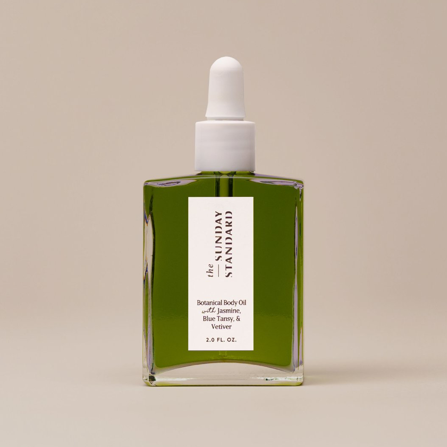 Botanical Body Oil with Jasmine, Blue Tansy, & Vetiver
