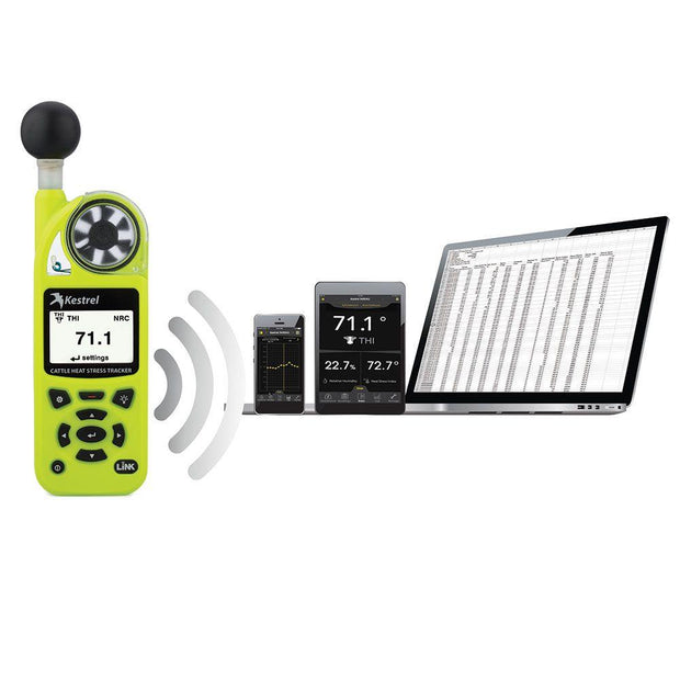 Kestrel 5400AG Cattle Heat Stress Tracker with LiNK + Vane Mount - ExtremeMeters.com