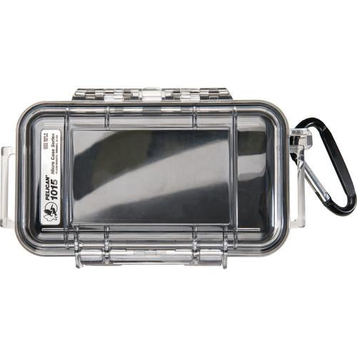 Pelican 1015 Water Resistant, Crushproof, Dustproof, Micro Case | Black / Clear - ExtremeMeters.com
