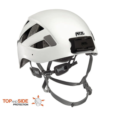 PETZL Boreo Caving Helmet with mounting plates for PETZL DUO Headlamp