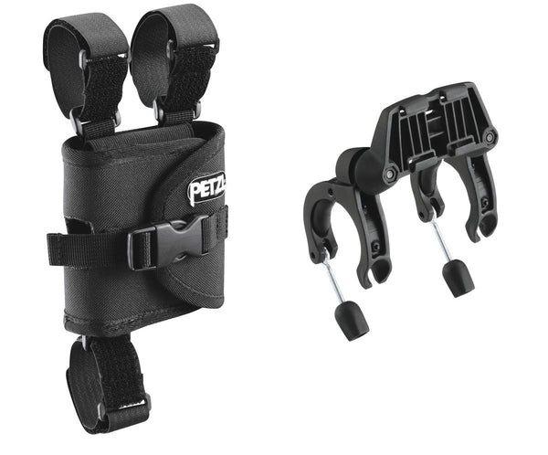 PETZL plates for mounting DUO Headlamps on bicycle handlebars