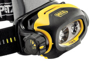 Petzl Pixa E78CHB 2UL Headlamp front view with easy to use control knob