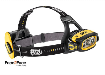 PETZL DUO Z2 Waterproof Durable Headlamp w/ FACE2FACE anti-glare function | 430 LM