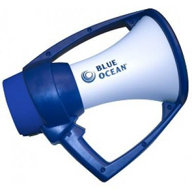 Blue Ocean Rugged Megaphone - Blue and White - ExtremeMeters.com