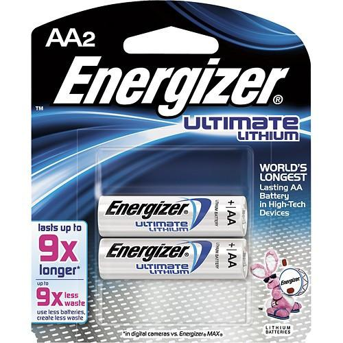 Energizer - Ultimate Lithium AA Batteries (2-Pack) - ExtremeMeters.com