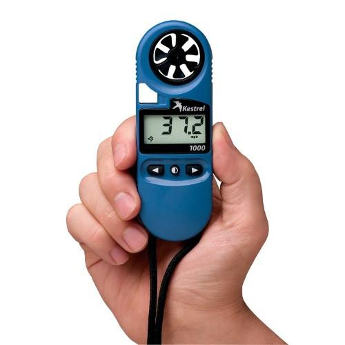 Kestrel 1000 Wind Speed Meter in hand