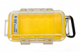 Pelican 1015 Water Resistant, Crushproof, Dustproof, Micro Case | Yellow / Clear
