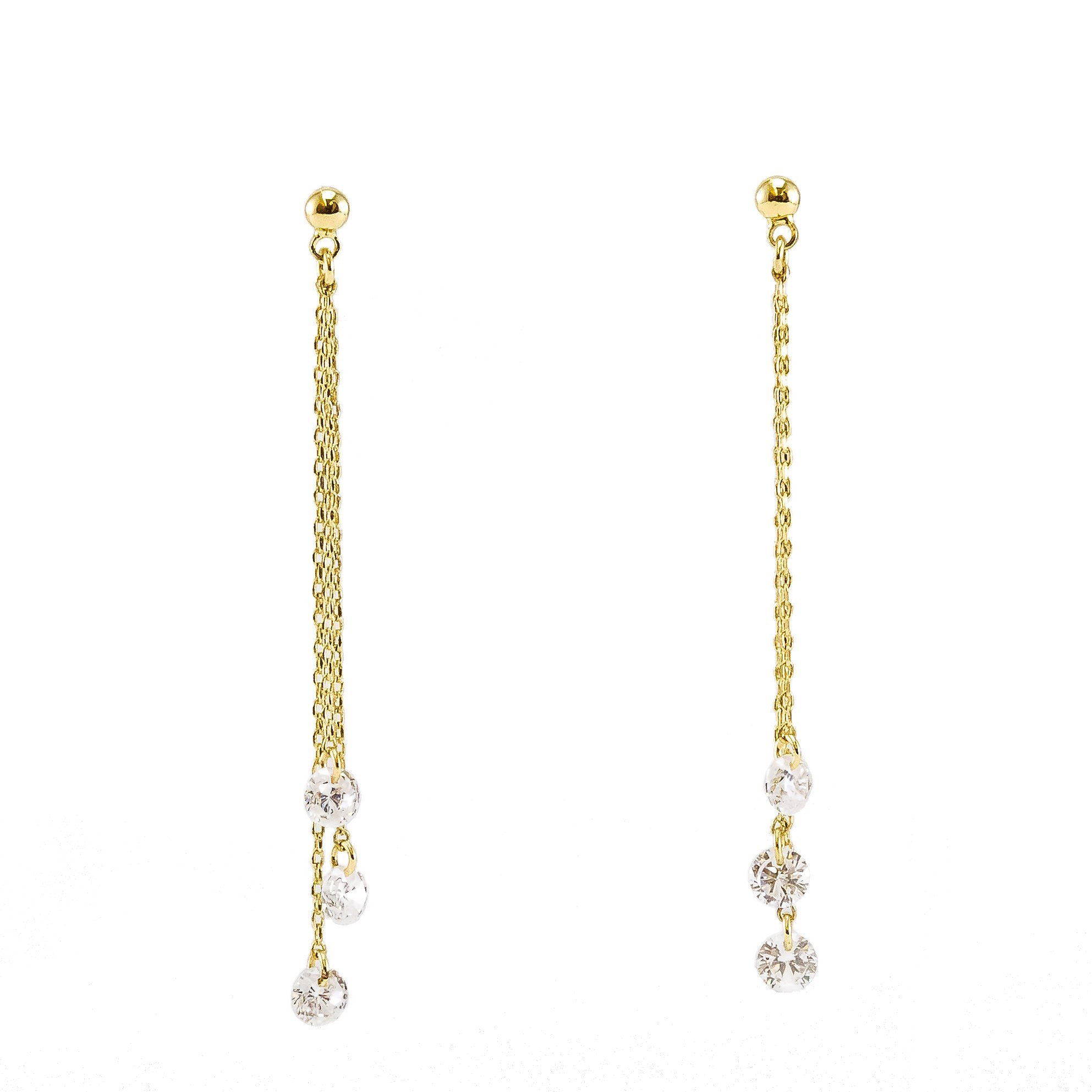 Estee Collection Graduated Pierced Earring