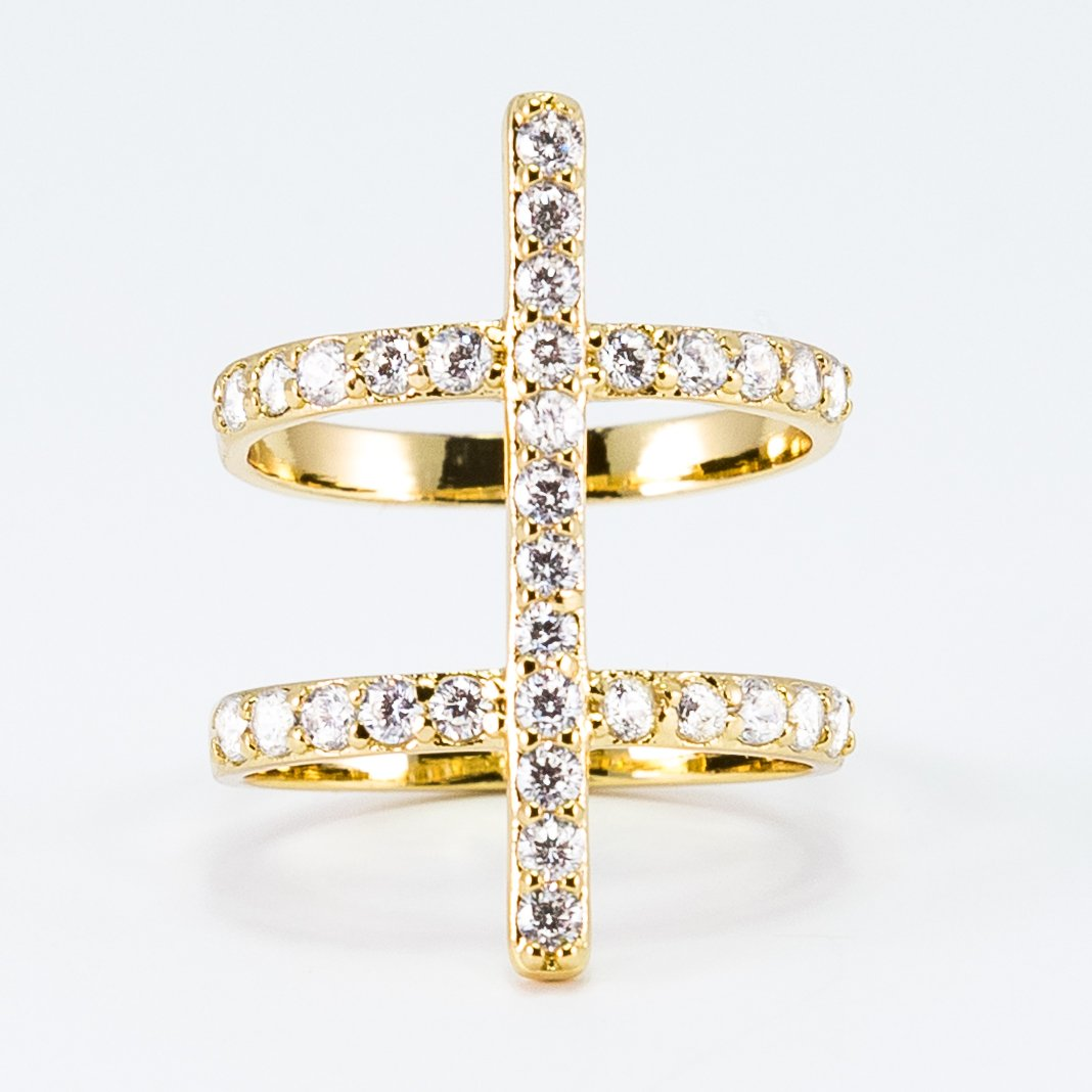 Luxe Collection Double Pave Ring