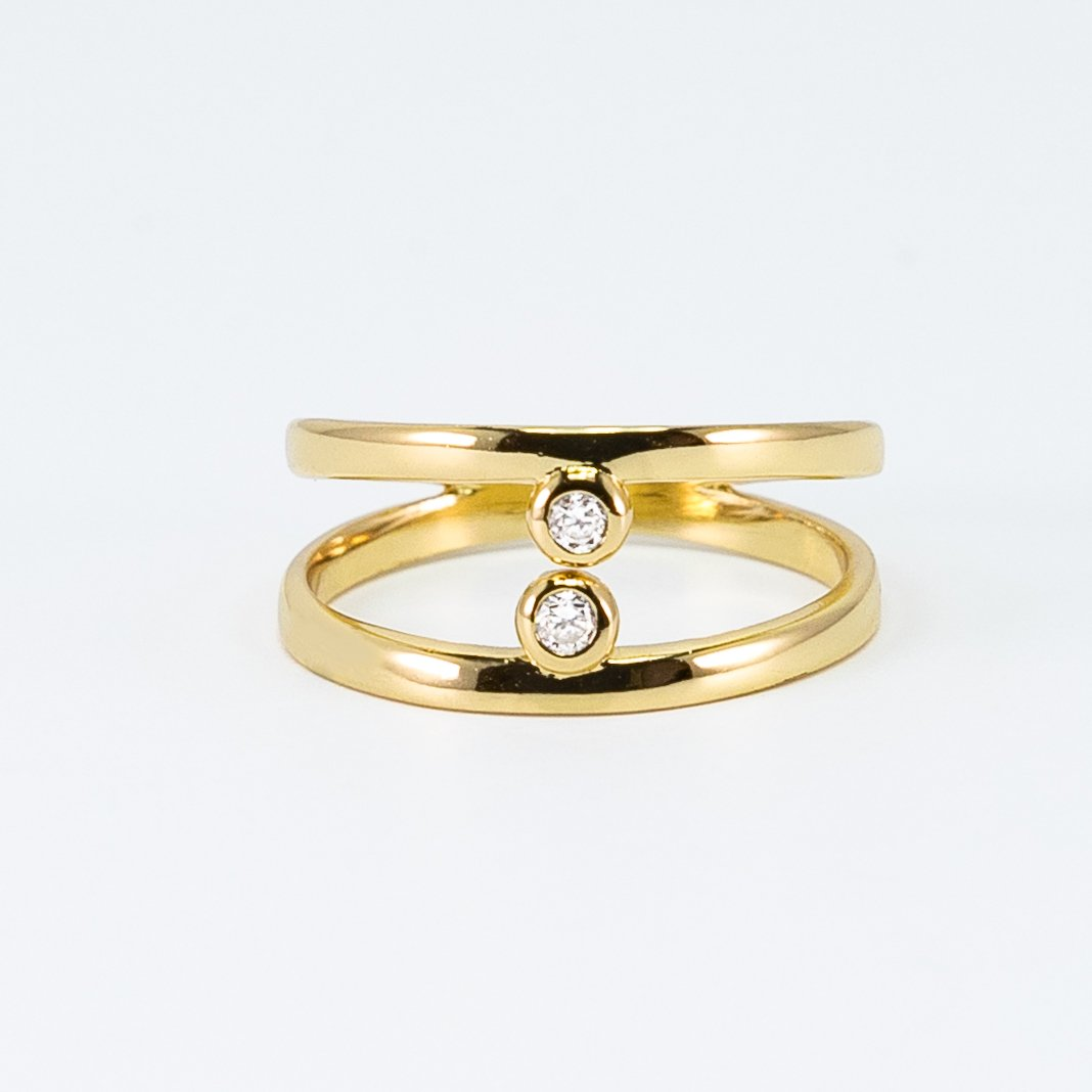 Luna Collection Double Dots Ring