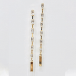 Load image into Gallery viewer, Chelsea Baguette Drop Earring