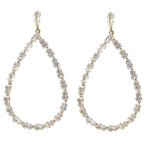Bella Baguette Drop Earring