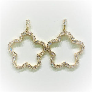 Nina Baguette Drop Earring