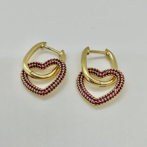 CORAZON PAVE DROP EARRING