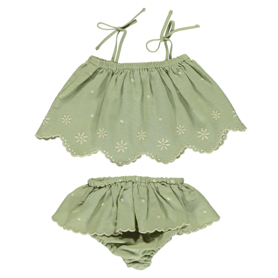 Olivia Embroidered Baby Set