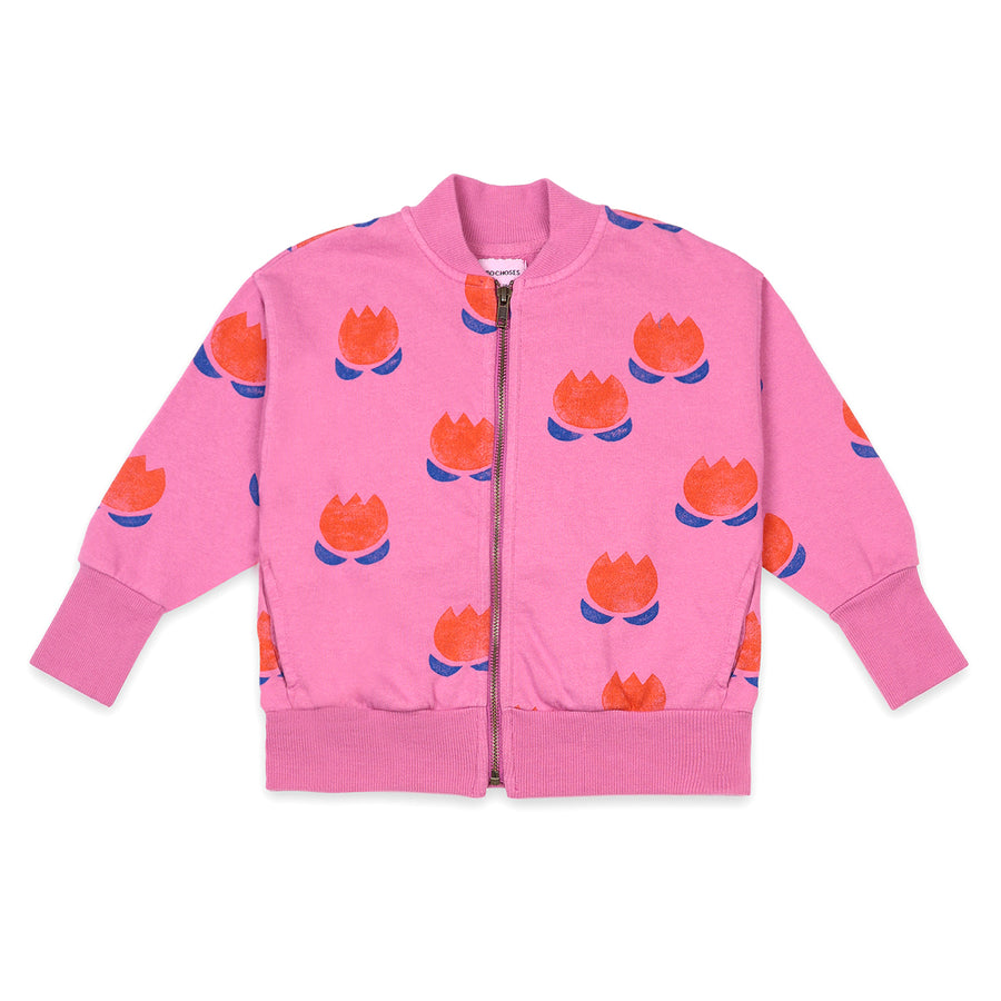 Flower All Over Zipped Sweatshirt