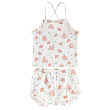 Anchita Vintage Off White Flowers Baby Set