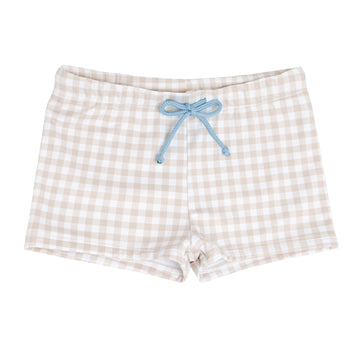 Tan Gingham Brief