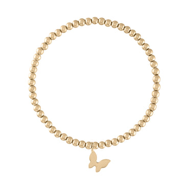Kids Yellow Gold Butterfly Bracelet