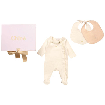 Scalloped Footie and Bib Set