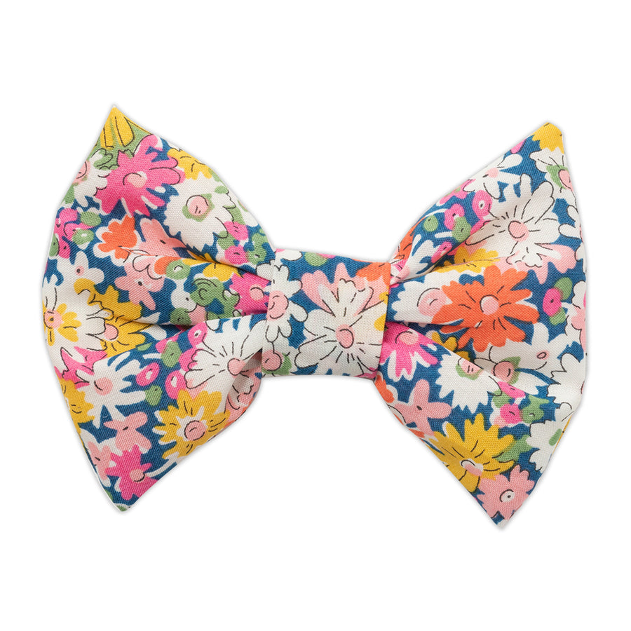 Blue Liberty Print Bow