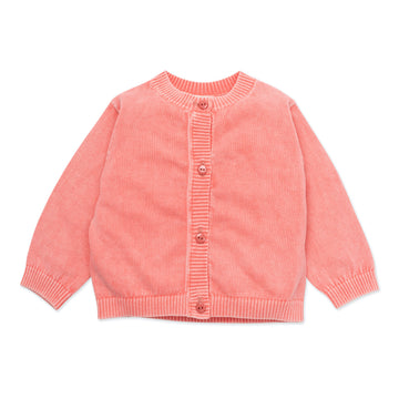 Knit Vintage Washed Baby Cardigan