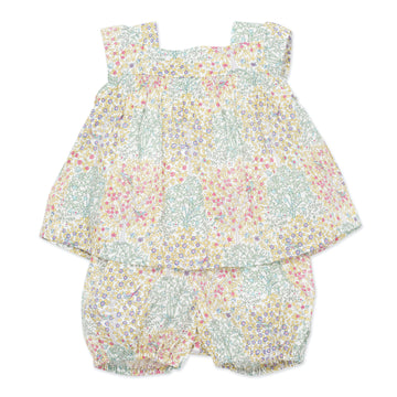 Nove Liberty Print Top and Bloomer Set