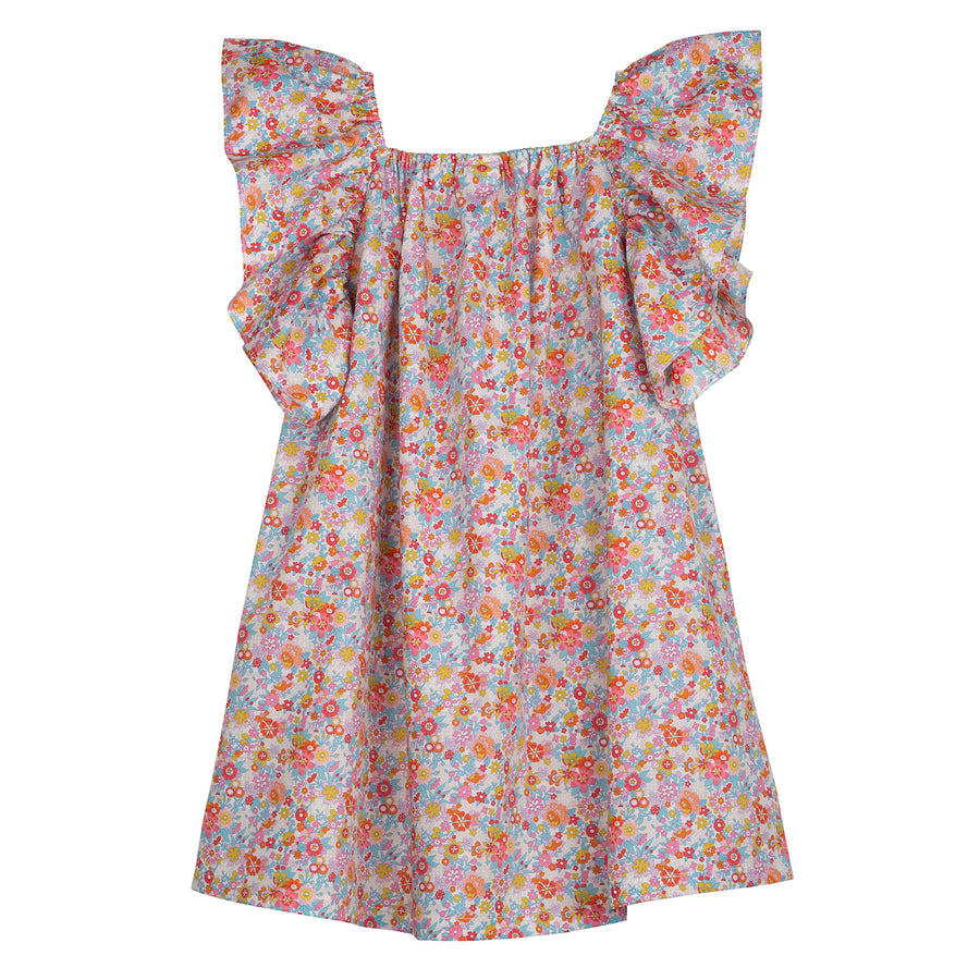 Reve Liberty Print Flutter Sleeve Dress