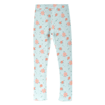 Anandou Vintage Blue Flowers Leggings