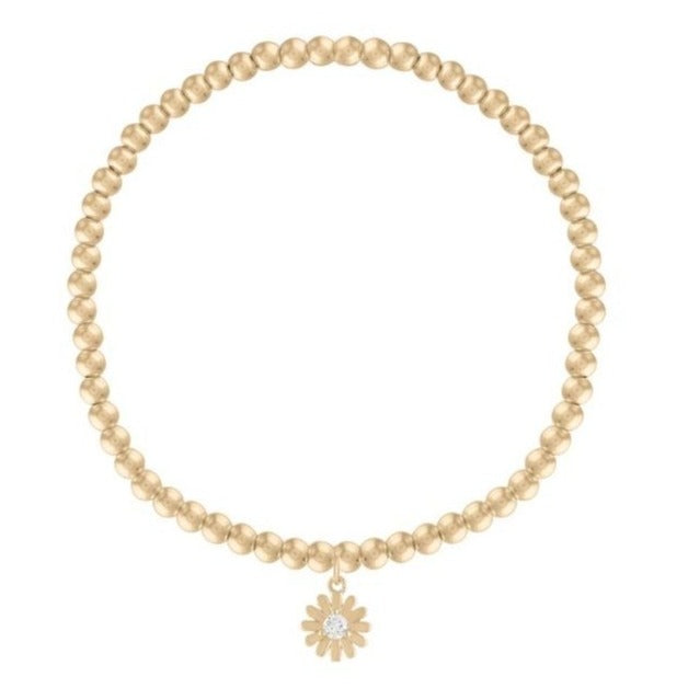 Adult Yellow Gold Daisy Bracelet