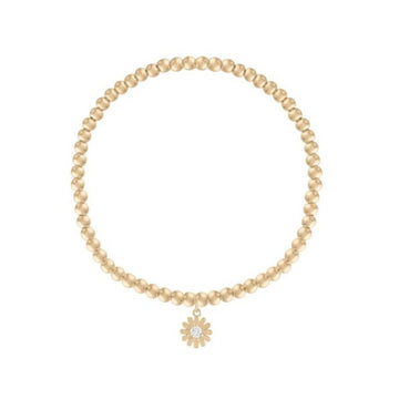 Kids Yellow Gold Daisy Bracelet