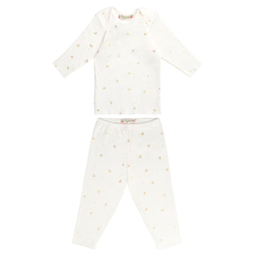 Cherry Printed Two Piece Pajama Set