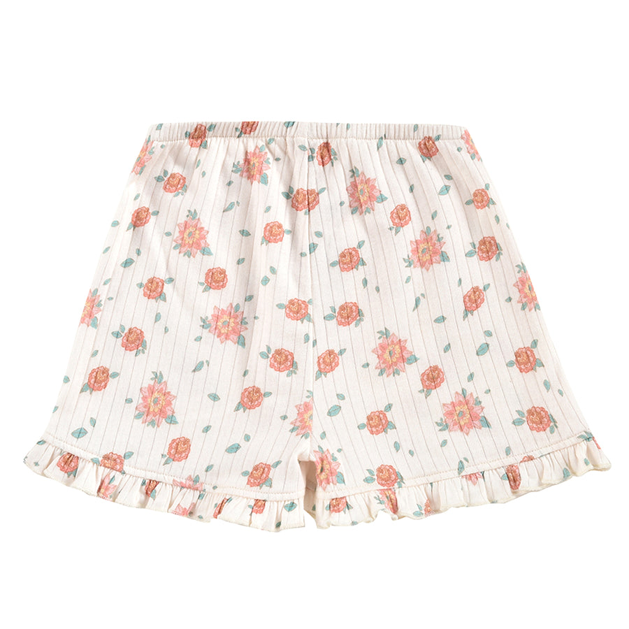 Anchi Off-White Flowers Shorts