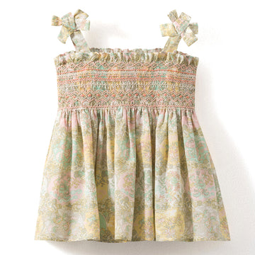 Sasha Smocked Floral Top