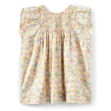 Cadelili Floral Smocked Dress
