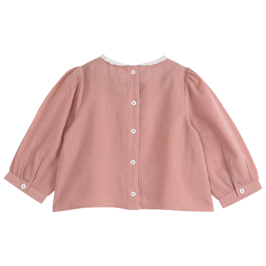 Blush Floral Embroidered Blouse