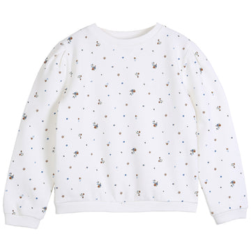 Ecru Flowers Sweatshirt