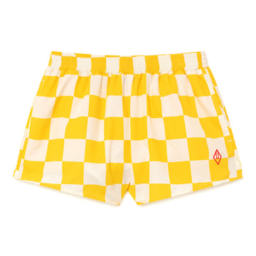 Yellow Squares Puppy Swimsuit