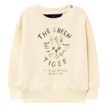 White Tiger Baby Bear Sweatshirt