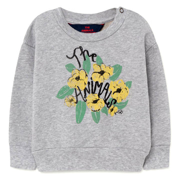 Grey Flowers Baby Bear Sweatshirt