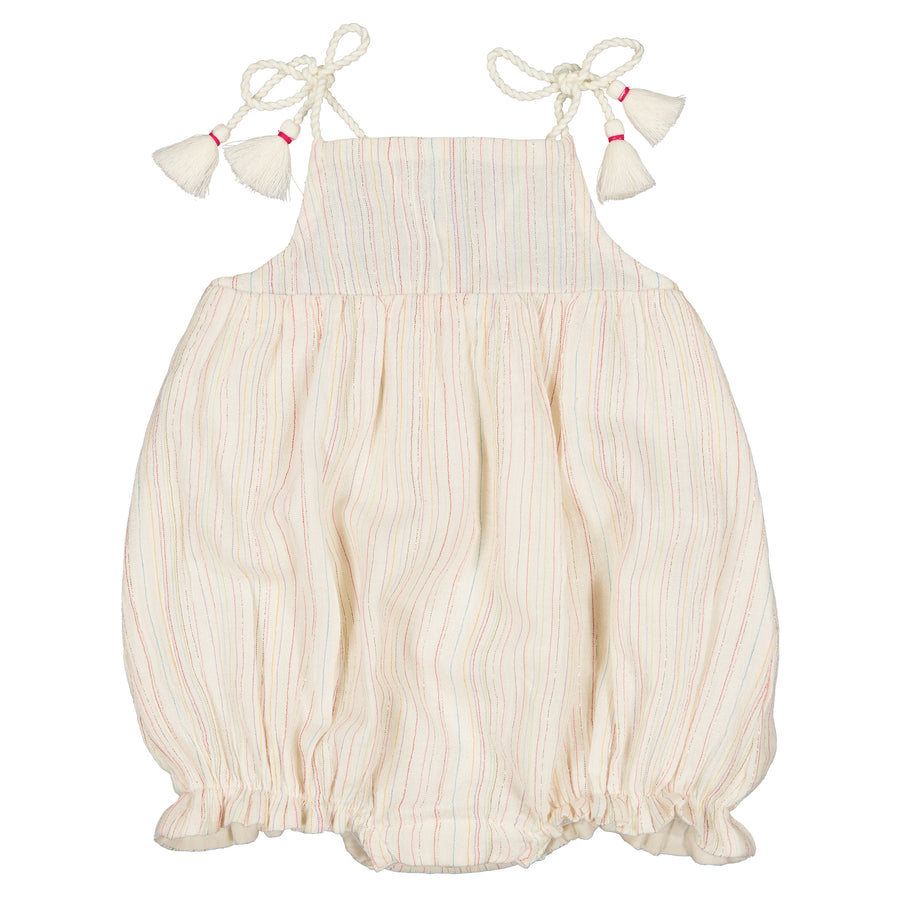 Iona Multicolor Stripe Lurex Romper