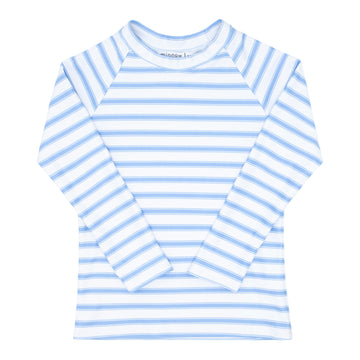 Blue Ticking Stripe Rashguard