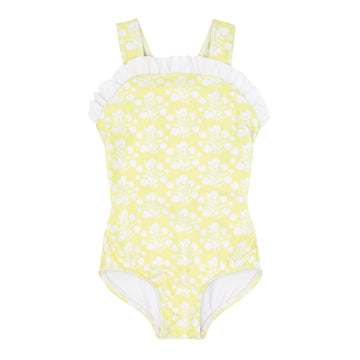 Citron Blossom Bib Crossover One Piece