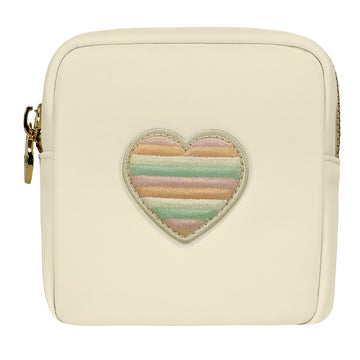 Rainbow Heart Mini Pouch