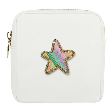 Rainbow Glitter Star Mini Pouch