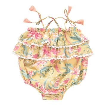 Kumal Soft Honey Parrots Romper