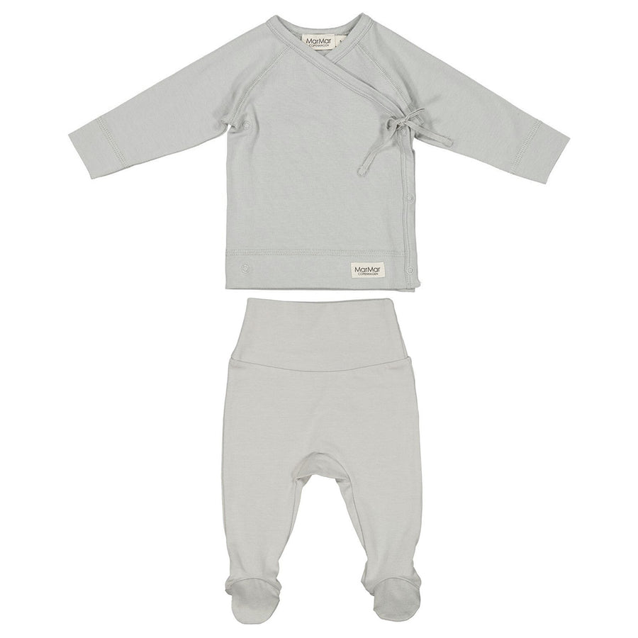 Chalk Wrap Top and Footie Set