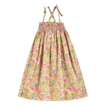 Marceline Soft Honey Parrots Dress
